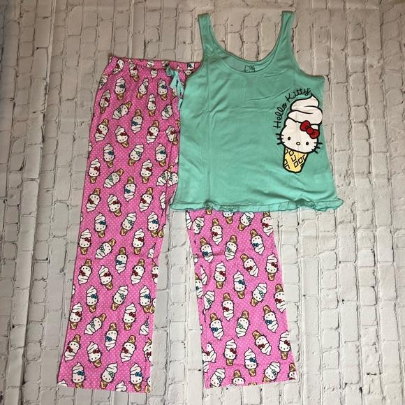 ba3c65c74 Hello Kitty Intimates & Sleepwear | Sanrio Ice Cream Cone Pajama Set ...